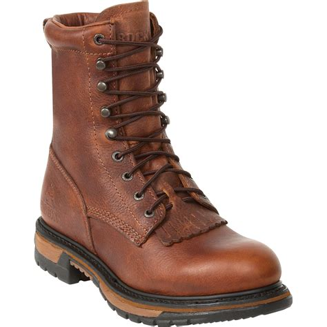 brown boots rocky ride 8in lacer western boot brown logger