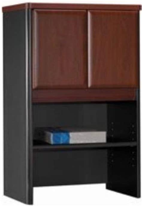 Concealed Door Storage Cabinet Bush Wc94425 Series A Hansen Cherry Storage Cabinet Hutch Area Is Concealed By 2 Doors