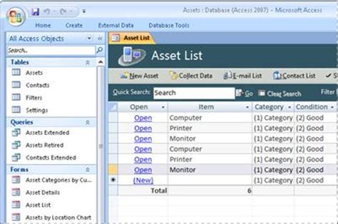 Use The Access Assets Database Template Access Asset Database Template Free