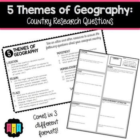 themes of geography quiz 17 best images about thomas teaching tools on pinterest