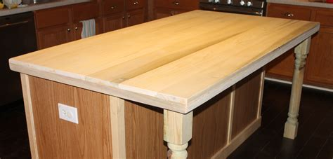 Kitchen Island Wood Countertop by Remodelaholic How To Create Faux Reclaimed Wood Countertops