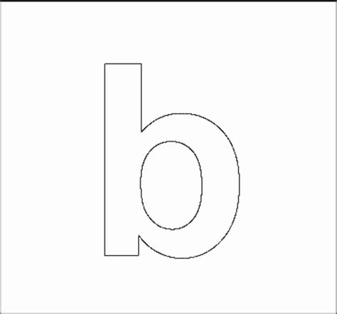 free printable lowercase letter stencils alphabet stenncils page print your lowercase b stencil