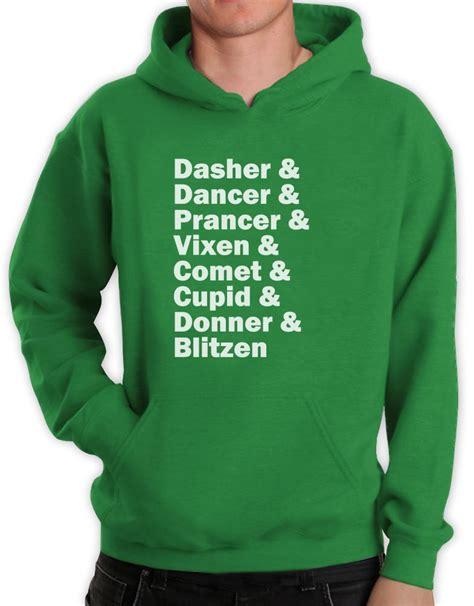Meme Sweatshirts - raindeer name list hoodie rudolph santa meme funny xmas