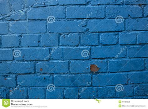 blue painted brick background stock photo image 44467954