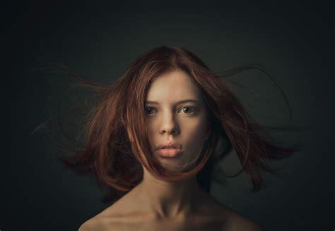 girl portrait wallpaper wallpaper face girl portrait of red haired girl