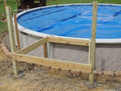 Echelle Piscine 554 by Of The Ladder I Also Added A Retaining Wall Before Deck