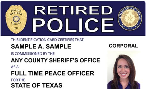 retired id card template officer id card images
