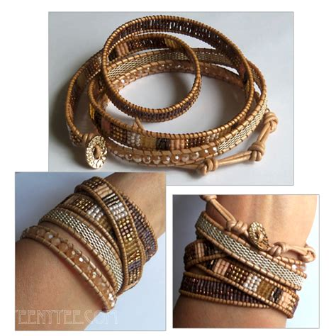 leather and bead bracelets jewelry