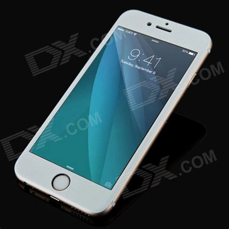 Tempered Glass Titanium Iphone titanium alloy tempered glass for iphone 6 silvery white free shipping dealextreme