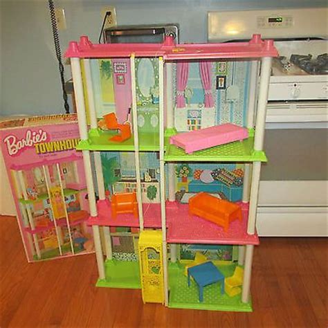 barbie house with elevator vintage barbie house 1973 townhouse elevator furniture box directions