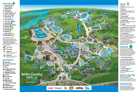 Ta Bush Gardens by Park Map Water Country Usa