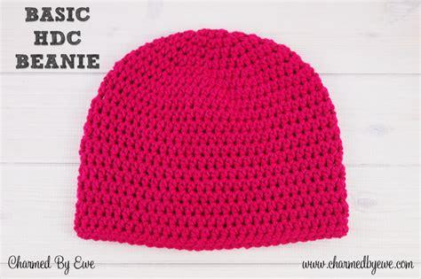 free pattern easy crochet hat basic hdc beanie charmed by ewe