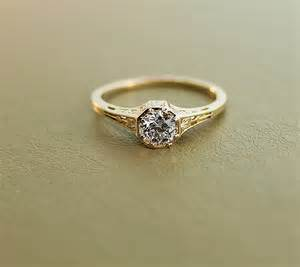 antique gold wedding rings antique engagement ring 15k yellow gold and