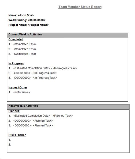 daily report template word best resumes