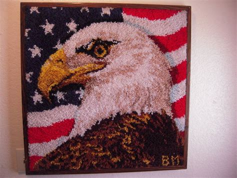 rug crafters rug crafters american eagle on rug b mayer sgnd bm for sale antiques classifieds