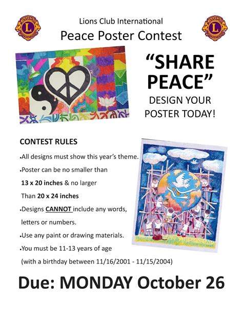 poster design contest rules blythewood middle school peace poster contest 2015
