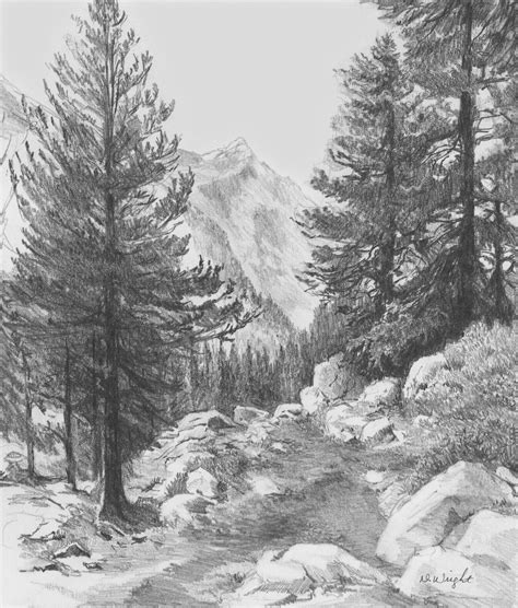 how to draw landscape and drawing scenery how to draw a realistic landscape