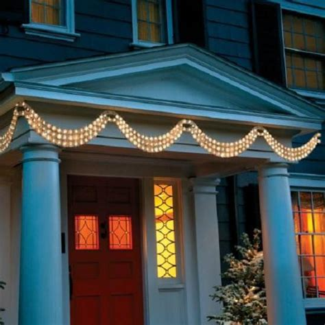 4 5 set of 2 white hanging swag lights outdoor porch