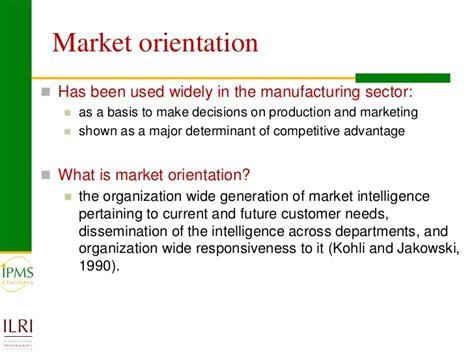 Market Orientation market orientation and market participation of