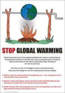 Global warming poster more