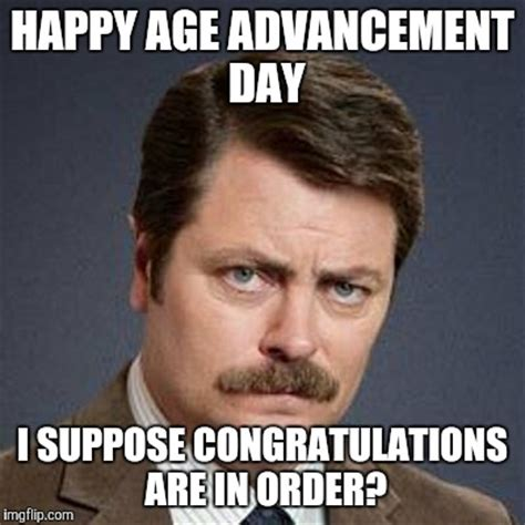 Happy Bithday Memes - ron swanson happy birthday imgflip