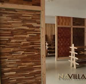mur en bois interieur decoratif mzaol
