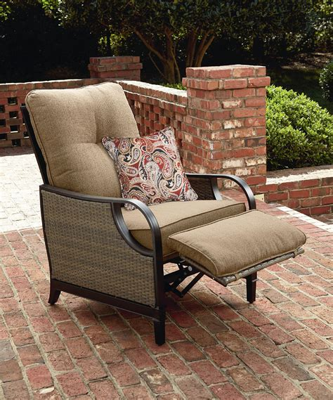 lazy boy outdoor recliner replacement cushions la z boy charlotte recliner in tan sears