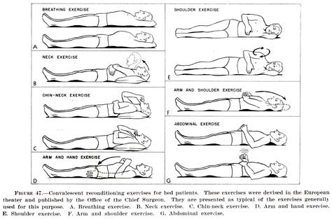 exercises in bed office of medical history