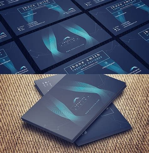 business card template psd 2015 free abstract hi tech business card template psd titanui