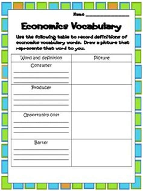 social studies k 3 on economics social
