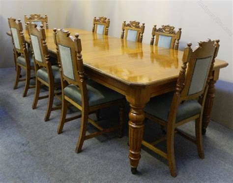 oak extending dining table 8 chairs antiques atlas