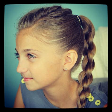 school hairstyles single frenchback into braid back to school