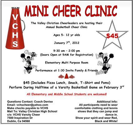 Image From Http Vcsathletics Com Docs 2011 Minicheers Gif Mini Cheer C Fundraiser Free Cheerleading Tryout Flyer Template