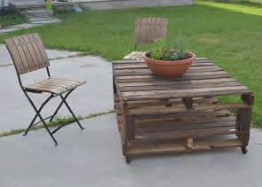 Pallet Patio Table Tutorial Tried Outdoor Pallet Table Part One