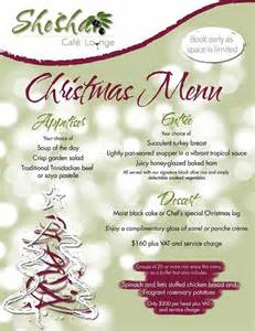2013 holiday eats t t restaurants 2013 christmas menus