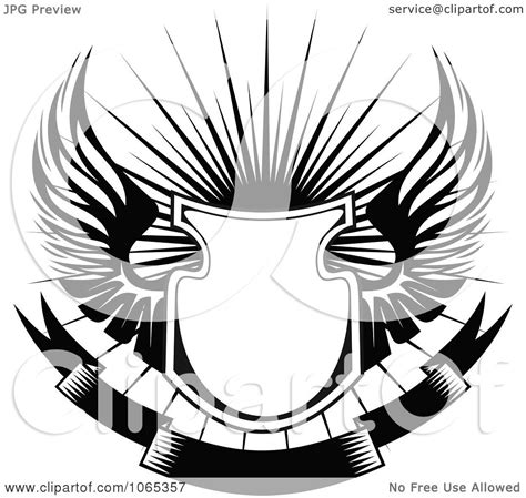 clipart free clipart shield with wings 1 royalty free vector