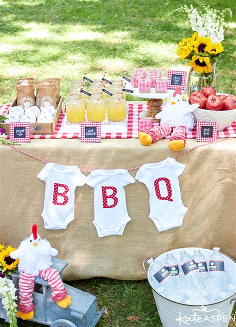 backyard bbq baby shower how to throw a relaxed co ed baby q kate aspen blog