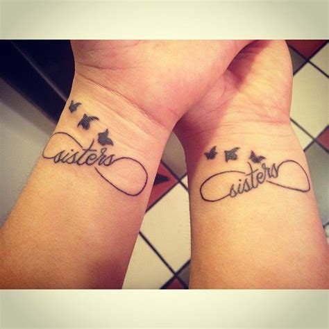 Matching Tattoo With My Sister. #tattoo #sister #infinty #birds If I Had A Sister But I Could