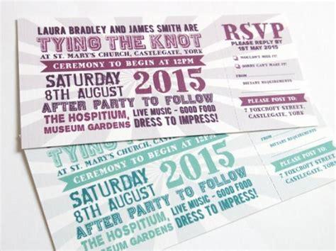 hochzeitseinladung festivalticket festival wedding invitation with rsvp card festival