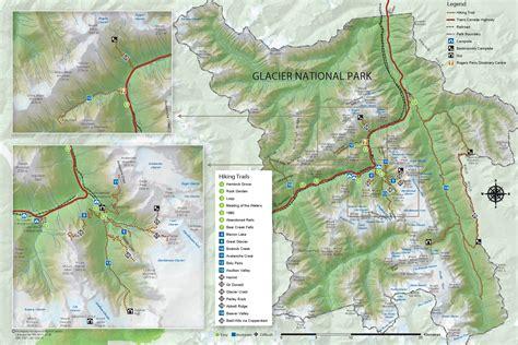 map of glacier national park canada maps glacier national park