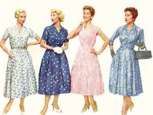 Women fashion 1950s women 50s housewife women dresses 1950s style