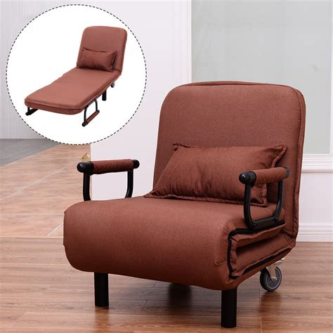 Recliner Sleeper Chair Convertible Sofa Bed Folding Arm Chair Sleeper Leisure