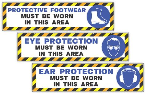Jumbo Wall Stickers ppe safety banner package from fabufacture fabufacture uk
