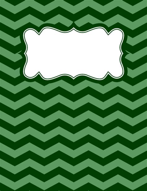 binder templates free free printable green chevron binder cover template