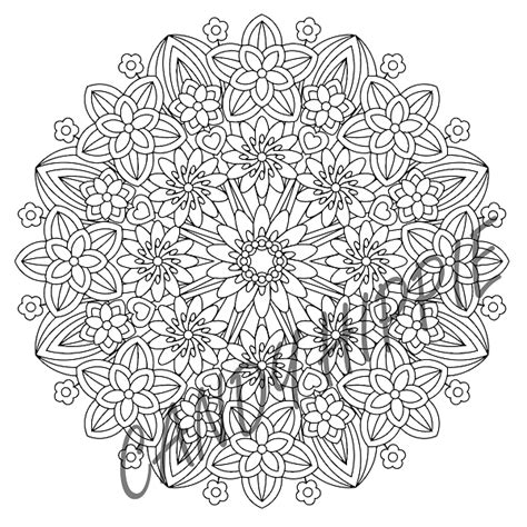 hippie mandala coloring pages flower epiphany mandala by candy hippie on deviantart
