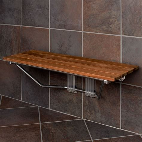 bench shower warm wooden shower bench the homy design
