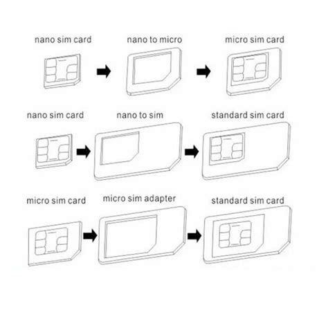 how to convert sim card to micro sim template 5 in 1 nano sim card to micro standard adapter adaptor