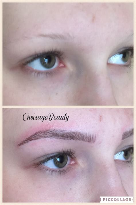 tattoo eyebrows before and after feather eyebrow before and after www imgkid