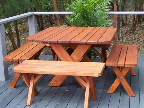 vintage redwood picnic table redwood patio furniture woodideas