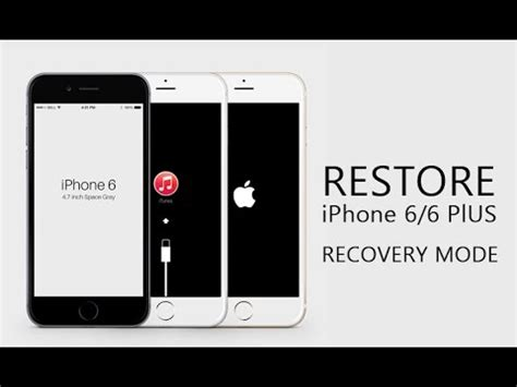 how to fix iphone 6 6 plus stuck on recovery mode